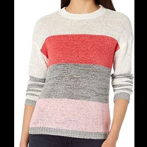 BB Dakota crew tickled striped sweater size medium
